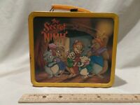 """VINTAGE 1982 """"THE SECRET OF NIMH"""" METAL LUNCH BOX BY ALADDIN"""