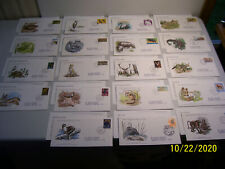 19 Cacheted Cacheted Oversized International World Wildlife Fdc's w/ Info Cards
