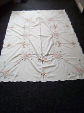 Beautiful Cream Hand Embroidered Tablecloth