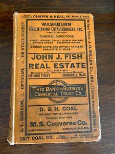 1923 Springfield MA Massachusetts City Directory