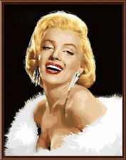 NEW DIY Acrylic Paint By Number Cotton Canvas 16x20inch - Beauty Marilyn Monroe