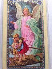 Angel de la Guarda- Guardian Angel - Oracion- Prayer Card- Laminated