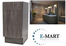 "New listing 18"" European Style 3 Drawer Bathroom Vanity Walnut Wood Pattern in Plywood"