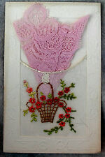 Lace Post Card New Year French 1925