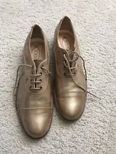 Tod's Beige Patent Leater Oxfords Womens Shoes 38.5/ US 8