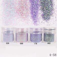 Nail Art Glitter Powder Purple Pink Super Fine Sheets Tips Decoration Tips 10ml