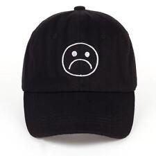 Sombrero de llorar cara triste Chicos Ajustable Gorra De Béisbol Hip Hop  Headwear Black da7af9219bc