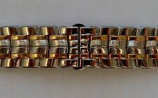 New Zenith bicolor steel/gold bracelet 20mm width.
