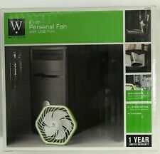 "WESTPOINTE 4"" PERSONAL USB POWERED COMPUTER DORM ROOM & OFFICE CUBICLE DESK FAN"