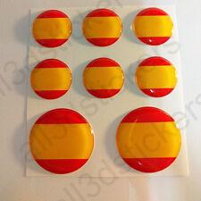 Pegatinas España Pegatina Bandera Española Redondas Adhesivos 3d Relieve