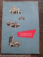 alter Katalog Feinmess- Fertigungsprogramm Carl Zeiss Jena von 1954
