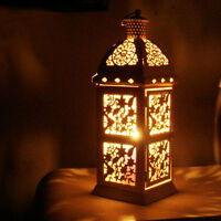 Glass Metal Moroccan Delight Candle Holder Tealight Hanging Lantern Garden Lamp