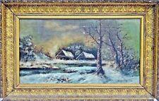 Virginia Lanham (American, 19th C.) Victorian Landscape Oil Painting, c.1885