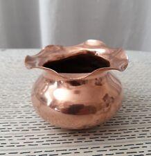 Cache-pot, coupelle en cuivre hauteur 6 cm diamètre 5,5 cm
