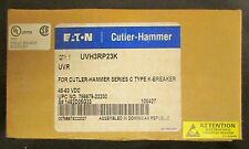 EATON CUTLER HAMMER UVH3RP23K K Breaker UVR Under Voltage Release 1482D05G33