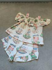 MONNALISA Tea cups shorts and stripy top set age 8 Pastels