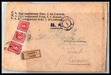 Gp Goldpath: Austria Cover 1918 Registered Letter _Cv427_P14