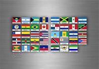 39x Aufkleber flagge fahne verschiedene amerika staaten del erde r2 scrapbooking