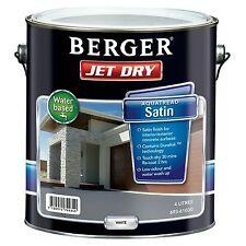 Berger Jet Dry AQUATREAD SATIN PAVING PAINT 4L WHITE, For Concrete Surfaces