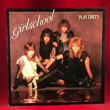 GIRLSCHOOL Play Dirty 1983 UK Vinyl LP Record EXCELLENT CONDITION Lemmy Slade