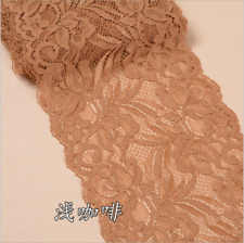 FP145 15cm,1yards Flower Stretch Lace Trim Ribbon Sewing Dress Skirt Handicrafts