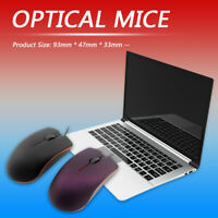 USB Wired Optical Mouse Desktop Laptop PC 3 Buttons Ergonomics Office Mice
