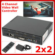 2x2 TV04 4 Channel Video Wall Controller for HDMI Outputs processor multi-format