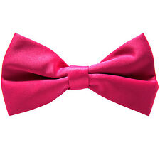 New KID'S BOY'S 100% Polyester Pre-tied Bow tie only hot pink formal wedding
