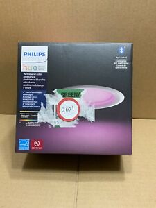Philips Hue 4 inch Retrofit Recessed White and Color Ambiance Downlight lot#9001
