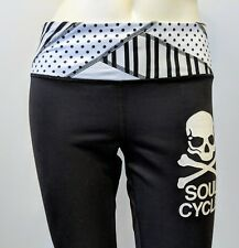 Lululemon Inspire Crop Soul Cycle Skull & Cross Bones Black/White Sz 4 Pants