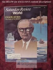 Saturday Review November 6 1973 MALTA ARVID PARDO THE SEA WALKER PERCY