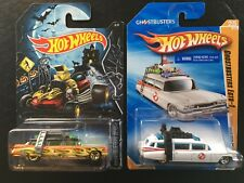 Hot Wheels 2010 New Models & 2014 Orange Halloween Ghostbusters Ecto-1 Lot of 2