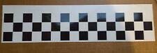 """2m Black Racing Stripes Chequered pattern 6"""" wide - vinyl car sticker, decals"""