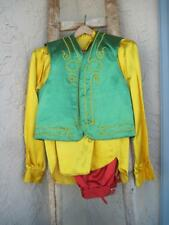 Vintage Masonic Shriner Outfit Vest Pants Shirt Cumberbund Red Green Yellow Rare