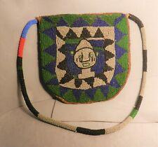 Antique Yoruba Tribal Diviner Beaded Shoulder Bag Nigeria , Africa, Estate