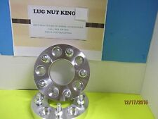 """2  WHEEL ALUMINUN SPACERS ADAPTERS  5 LUG NUTS 1"""" THICK  5 ON 4 1/2 1/2-20 STUDS"""