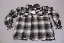 Maxxsel Men's Fleece Plaid Flannel Jacket AB3 Gray/Black Size 2XL NWT