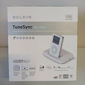 Belkin TuneSync - For iPod - Docking station with USB hub - White - F5U255UK