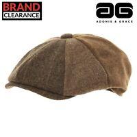 Luxury Tweed Mix Peaky Blinder Cap Alfie Newsboy Bakerboy by A&G Luxury