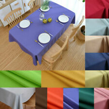 Cotton blend Linen fabric Tablecloth Party Wedding TableCover Kitchen Decorative