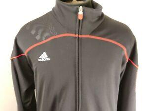 Adidas Predator Mens Track Jacket Climalite Black Red Athletic Size Large