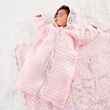 Crochet Pattern- beautiful crochet baby sleeping bag in DK wool- pattern only