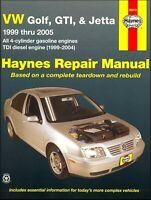VW Golf, GTI, Jetta Repair Manual 1999-2005