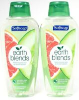 2 Softsoap 16.9 Oz Earth Blends Pink Grapefruit & Cucumber Moisture Body Wash
