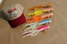 """5-Pack 10"""" Tubby Tube Musky Lure Muskie Northern Pike Largemouth Bass Squid Rod"""