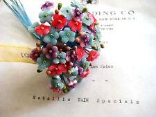 Fantastic Vintage Velvet Forget Me Not Millinery Hat Flower UNUSED Tag Attached
