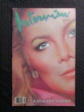 1985 July INTERVIEW Andy Warhol Magazine FN 6.0 Kathleen Turner
