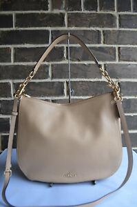 NEW $325 COACH Chelsea 32 Hobo 58036 Shoulder Bag Pebble beechwood beige