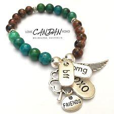 BFF Best Friend Omg Xoxo Angel Wings Clover Charm Bracelet Great Gift
