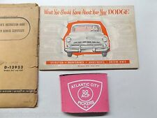 DODGE CHRYSLER MODELS D41 & D42 ORIGINAL OWNERS MANUAL